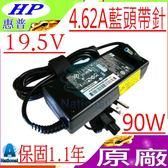 HP 19.5V,4.62A,90W 充電器(原廠)-惠普  ENVY PPP012L-E,15-j080us,j008ss,j030us 15-j040,j084eg,藍頭帶針