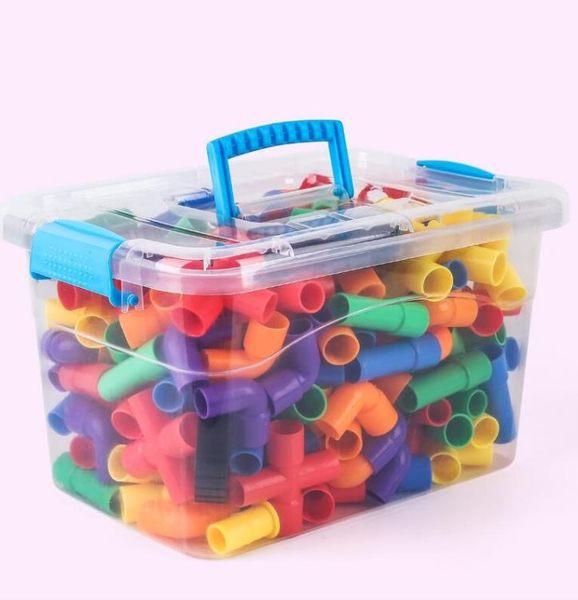 兒童水管道積木塑料玩具3-6周歲益智