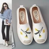 一腳蹬懶人鞋女新款布鞋女鞋百搭學生帆布鞋女平底休閒鞋