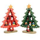 【BlueCat】聖誕節星星聖誕樹格子趣禮物盒木質桌面擺飾/飾品