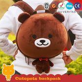 動物造型後背包-大頭QQ熊 supercute R-SH036-B