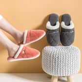 2020新款家居家用棉拖鞋女冬季室內防滑居家男厚底臥室毛毛絨拖鞋 蘿莉小腳丫