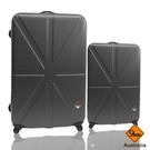 行李箱28+20吋 ABS材質 米字英倫系列【Gate 9】