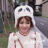 熊貓帽子女秋冬季百搭甜美可愛冬天軟妹毛毛絨護耳兒童潮