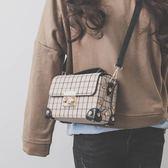小包包女新款韓版潮手提盒子包小方包百搭單肩斜挎包 全館88折