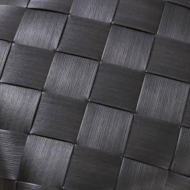 北歐木紋長方型小編織籃W30 鐵黑色
