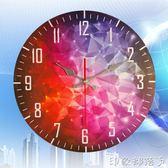 歐式復古鐘錶掛鐘客廳家用臥室簡約時鐘圓形創意靜音墻飾掛錶掛件 igo  全館免運