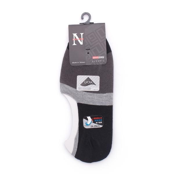 NAVIGATOR 零束痕柔綿條紋隱形襪套 鐵灰 N3481 男 鞋全家福