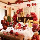 派對氣球婚禮婚房佈置創意結婚氣球套餐求婚告白浪漫新房臥室婚慶裝飾用品 台北日光