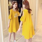 孕婦裝短袖T恤韓版中長款寬鬆上衣懷孕期裝孕婦裝連身裙 全館免運