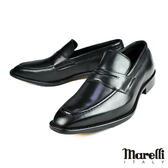 【Marelli】頂級手工樂福鞋 黑色(M403-BL)