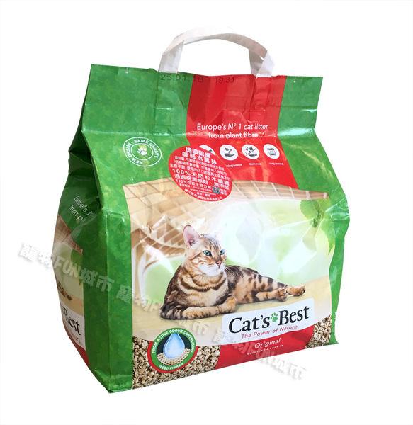 寵物FUN城市│德國凱優 紅標 凝結型木屑貓砂【10L(4.3kg)】木屑砂  貓沙 CATS BEST
