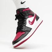 【現貨】NIKE Air Jordan 1 Mid Bred Toe 黑 紅 男鞋 紅頭 運動鞋 籃球鞋 喬丹 554724-066