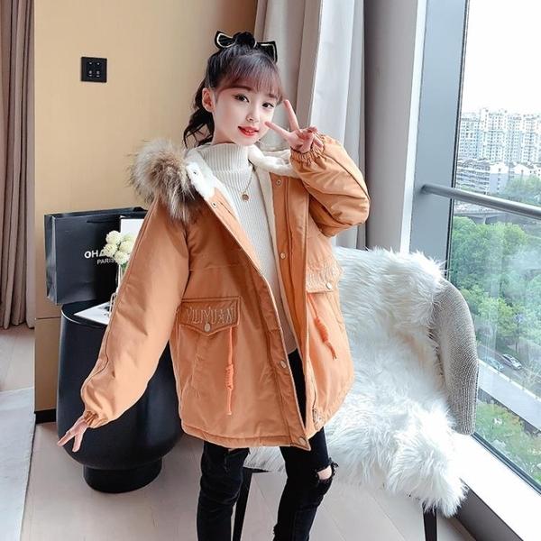 女孩洋氣保暖時尚棉衣女童外套 羽絨外套秋冬棉襖 中大童上衣韓版外套 兒童棉服加絨夾克外套