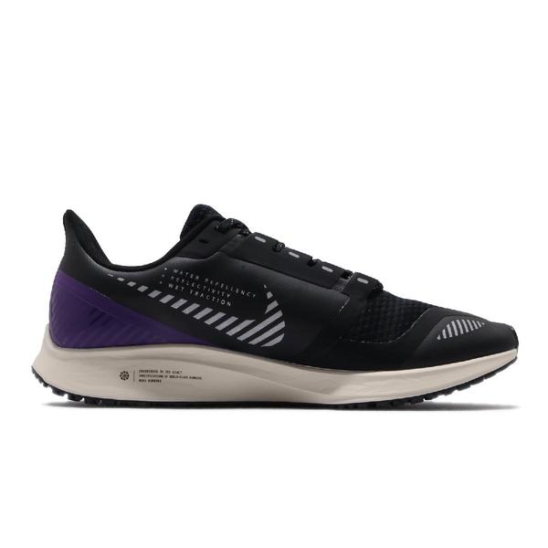 Nike 慢跑鞋 Air Zoom Pegasus 36 Shield 黑 紫 男鞋 運動鞋 【ACS】 AQ8005-002