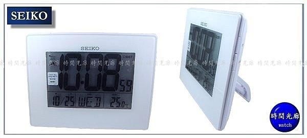 【時間光廊】SEIKO 精工 桌鐘 電子鐘 掛鍾/鬧鐘 日曆顯示溫度顯示 靜音 公司貨 QHL057W
