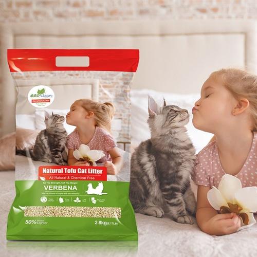 【寵物王國】EcoClean艾可天然草本輕質型豆腐貓砂-馬鞭草2.8kg