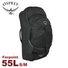 【OSPREY 美國 Farpoint 55 火山灰 S/M 旅行背包 】55L/旅行背包/子母包/多功能/登山包/健行背包/Farpoint 55