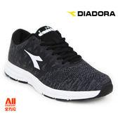 【Diadora 迪亞多那】男款休閒慢跑鞋  寬楦 -編織黑白(D6728) 全方位跑步概念館