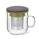丹麥泡茶玻璃杯350ml 2.0 (黑+...