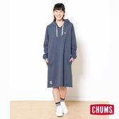 CHUMS 日本 女 Keystone Sweat 連帽磨毛洋裝 深藍 CH181088N018