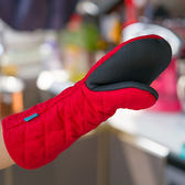 矽膠烤箱手套 隔熱布藝耐高溫加厚隔熱 防燙(一只裝)  茱莉亞