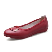 秒殺價軟底鞋平底舒適孕婦女單鞋春秋坡跟開車鞋防滑軟底平跟媽媽鞋豆豆鞋交換禮物