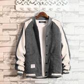 大碼外套男  冬季休閒加絨夾克男士加肥大碼胖子運動外套zzy8910『時尚玩家』