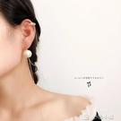 單邊耳環棉花珠雙耳洞連體耳釘耳骨夾一體式氣質個性簡約單邊耳環耳飾 多色小屋