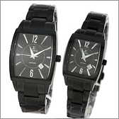 【萬年鐘錶】SIGMA日系 全黑經典時尚對錶 8801M-8801L-B