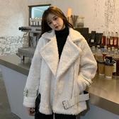 網紅棉衣女秋冬韓版新款小個子寬鬆百搭外穿羊羔毛棉服外套潮 雅楓居