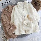 羊羔毛外套 羊羔絨外套女加厚秋冬新款寬鬆百搭韓版慵懶風小個子仿羊羔毛棉衣 寶貝計畫