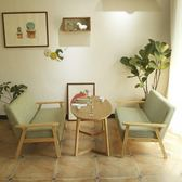 好評推薦甜品奶茶店西餐咖啡廳洽談桌椅組合簡約休閒雙人卡座辦公室布沙發jy