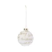 聖誕快樂玻璃球吊飾