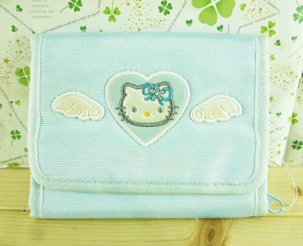 【震撼精品百貨】Hello Kitty 凱蒂貓-凱蒂貓皮夾/短夾-藍條紋