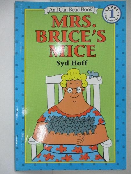 【書寶二手書T3/原文小說_KK1】Mrs. Brice's Mice_Hoff, Syd