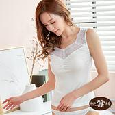 【岱妮蠶絲】CC1099N純蠶絲42針110G微透感蕾絲抓縐背心 (白)