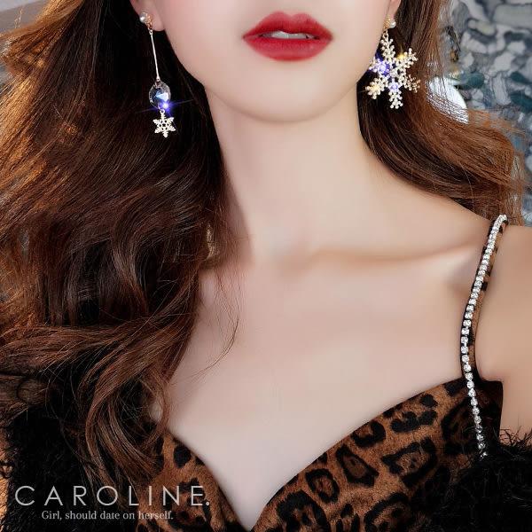 《Caroline》★韓國熱賣造型時尚 閃人耀眼水鑽  耳環70647