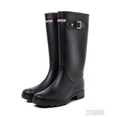 長筒雨靴 可愛簡約雨鞋女士韓國時尚水鞋高筒雨靴成人長筒水靴防滑膠鞋 艾維朵