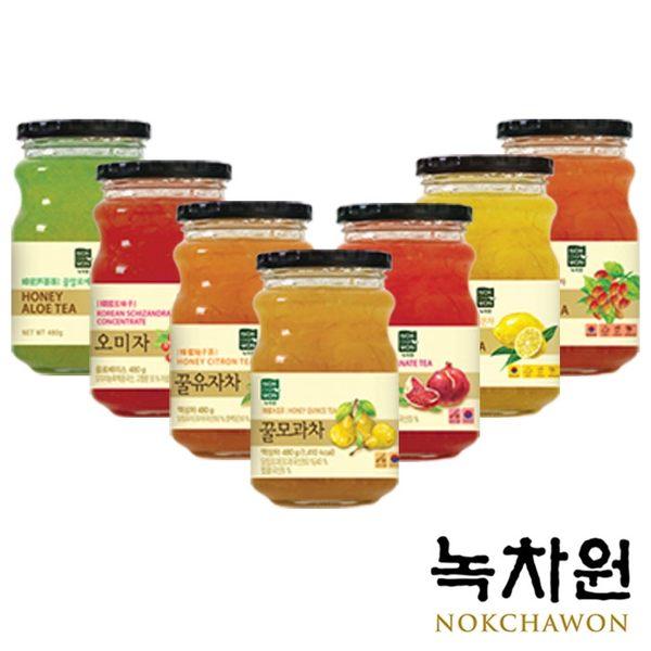 韓國 NOKCHAWON 綠茶園 蜂蜜果茶系列 (480g/罐) 蜂蜜檸檬茶 蜂蜜柚子茶 黃金柚子茶 韓國柚子茶