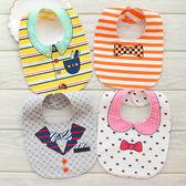 寶寶雙面圍嘴嬰兒卡通防水圍兜純棉U型口水巾新生兒嬰兒可愛造型