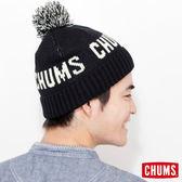 CHUMS 日本 LOGO 球球毛帽 黑 CH050681K001
