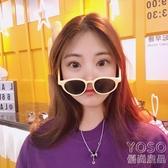墨鏡 夏季新款墨鏡復古簡約圓形韓版潮流港風學生透明男女太陽眼鏡  『優尚良品』