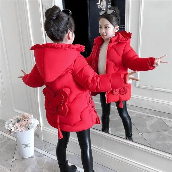 女孩棉衣潮流女童外套 羽絨外套秋冬羽絨服 韓版外套中大童上衣 加絨棉服洋氣風衣兒童夾克外套