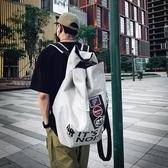 休閒後背包潮牌原創背包男後背包書包女韓版高中高街風學生書包旅行大容量 聖誕交換禮物