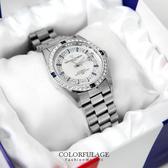 范倫鐵諾Valentino 銀藍色系滿天星珍珠貝面錶盤背面鏤空自動上鍊機械手錶 柒彩年代 【NE1358】原廠
