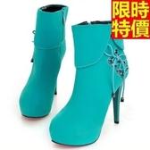 短靴 高跟女靴子-個性灑脫時尚質感休閒5色66c41[巴黎精品]
