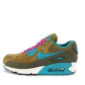 Nike WMNS Air Max 90 LTHR [768887-300] 女鞋 經典 復古 潮流 運動 橄欖綠 水藍