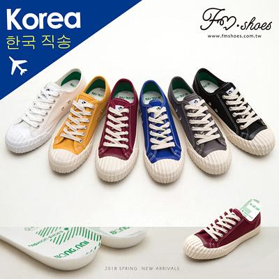 休閒鞋.二代帆布餅乾鞋(棗紅、黃)-FM時尚美鞋-韓國精選.Meet