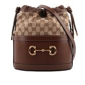 【GUCCI】Gucci Horsebit 1955水桶包(棕色) 602118 1DBUG 2363